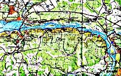 Карта горного массива