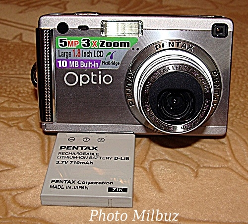 цифровой фотоаппарат Pentax Optio S5i. Аккумулятор.